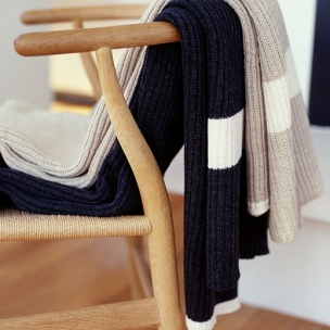 Classic Rib - Wool Blend knitted throws