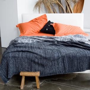 Bouclé Block - Wool Blend knit blanket $320