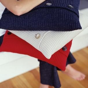 Classic Rib - Wool Blend knit cushions $155
