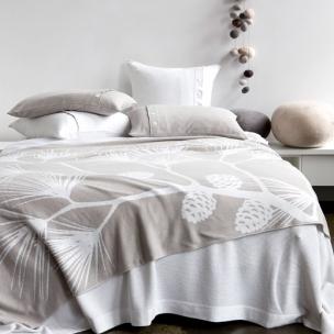 She-oak - Cotton reversible knit blanket $375