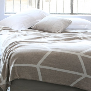 Cotton STICKS reversible knit blanket - $350