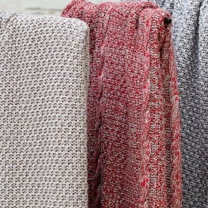 SALE : Cotton Cable Knit Blankets $220
