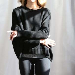 Merino Wool knit jumper ... black ... $289