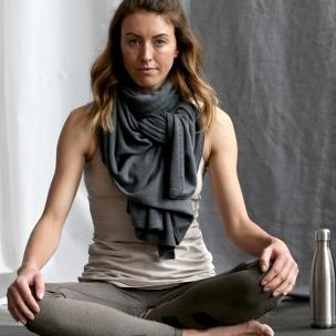 Superfine Merino Wool Yoga Wrap - Basalt