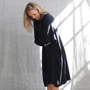 Superfine Jersey Knit Dress . . . $209 . . . INK