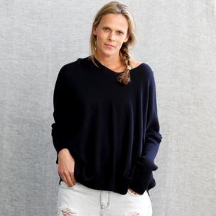 Superfine Jersey knit jumper . . . $198 . . . NAVY