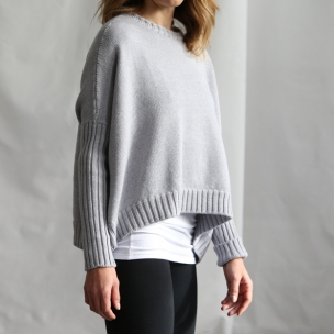 Merino Wool knit jumper ... pebble ... $289