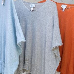 Cotton knit kaftan top . . . $154 . . . SKY SILVER PAPAYA