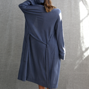 Super Soft Jersey Knit Gown . . . $250 . . . S-M M-L . . . INDIGO cotton