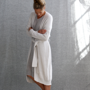 Cotton Piqué Knit Gown  . . . $250 . . . S-M M-L . . . OYSTER cotton