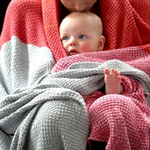 Tri-Moss.  Knitted Cotton Blanket... $90 pram . $139 cot