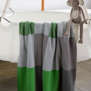 Patch Knitted Blanket - Cotton . . . $95 pram . . .  $145 cot