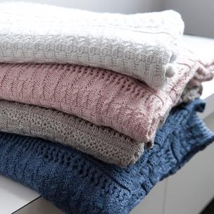 Crochet Knit Blankets - Cotton . . . $110