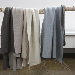 2 Tone Knit Blankets - Extrafine Merino Wool