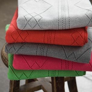 Pointelle Knitted Blanket - Cotton . . . $55 pram . . .  $85 cot