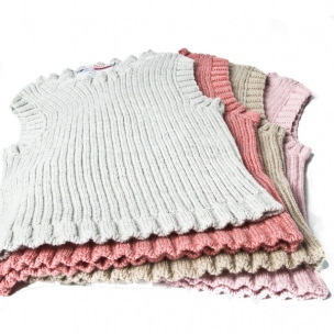 Cotton Rib Knit Baby Vest ... $30