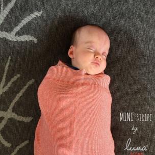 Mini Stripe. Cotton...Knit Swaddling Blanket... $90