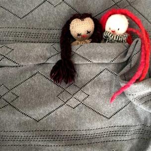 Pointelle Knitted Blanket - Cotton .  $55 pram .  $85 cot