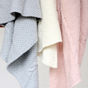 Cable. Merino Wool. Knitted Bassinet Blanket... $185