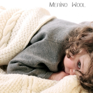 Cable. Merino Wool. Knitted Cot Blanket... $275