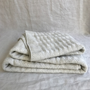 Diamond.  Knitted Cot Blanket ... $139