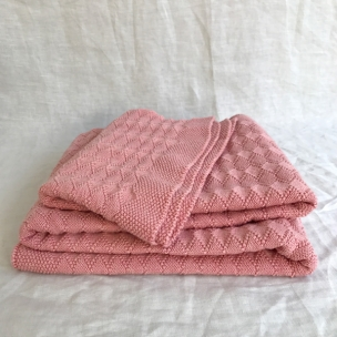 Diamond.  Knitted Cot Blankets ... $139
