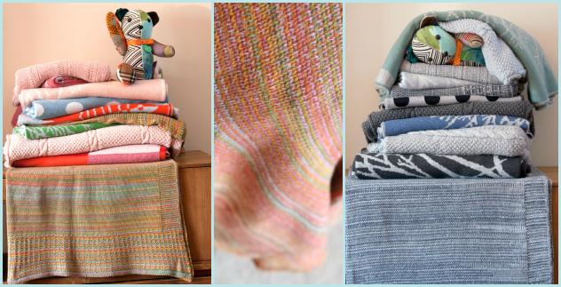 autumn + winter knit baby blankets luna niños