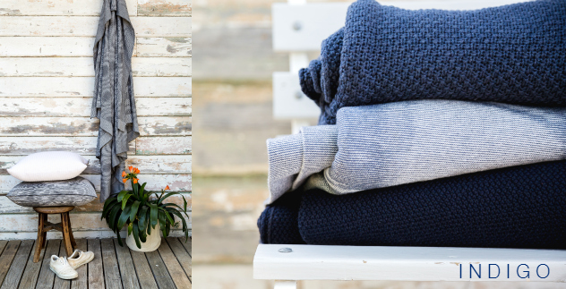 Luna blues - knitted blankets