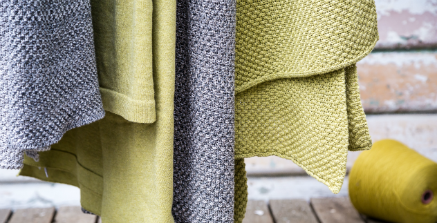 moss knit cotton blankets