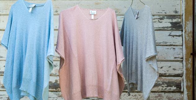 cotton knit kaftan top