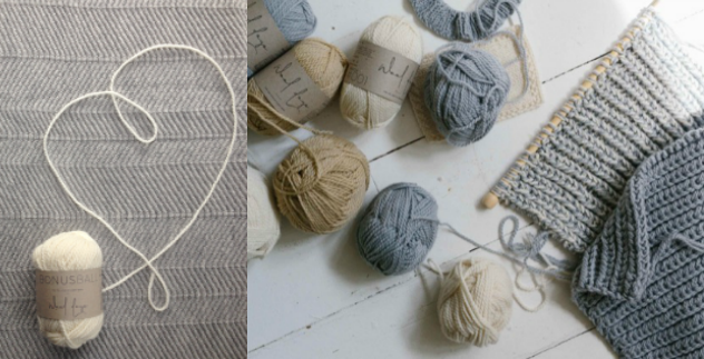 Knitting with Provenance - a lovely knit event with Luna Gallery knitted merino wool blankets