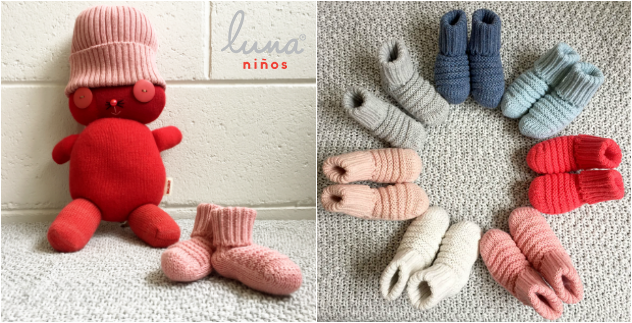 knitted baby booties and beanies melbourne by Luna Ninos