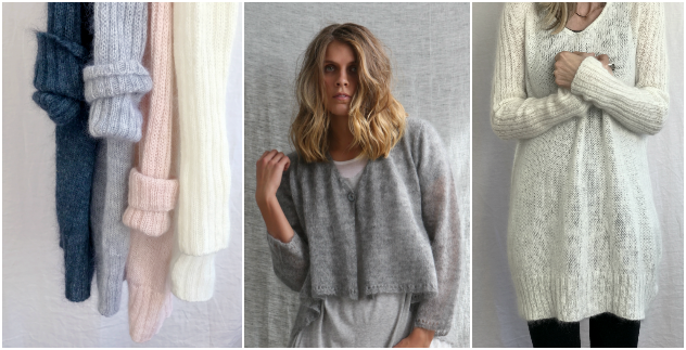 Kid Mohair light and luscious knitwear by Luna Gal Melbourne
